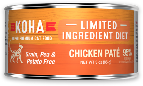 Limited Ingredient Diet Chicken Pâté for Cats case of 24 cans