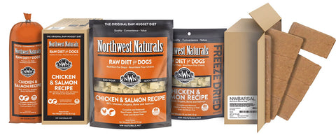 Freeze Dried Nuggets Chicken and Salmon Recipe Raw Diet for Dogs