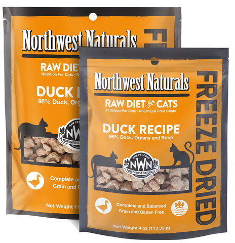 Freeze Dried Nibbles Duck Recipe Raw Diet for Cats - PetProductDelivery.com