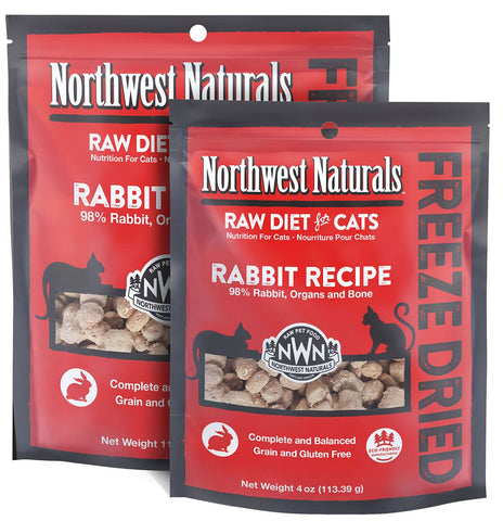 Freeze Dried Nibbles Rabbit Recipe Raw Diet for Cats