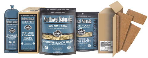 Freeze Dried Nuggets Whitefish and Salmon Recipe Raw Diet for Dogs