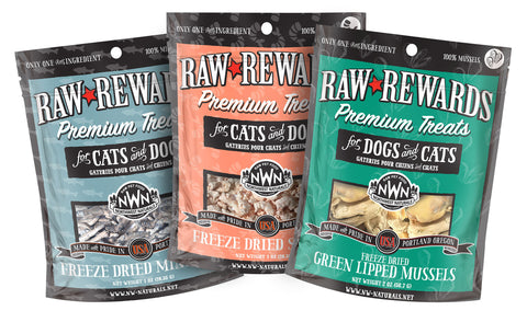 Raw Rewards Freeze-dried Premium Single Ingredient Treats for dogs and cats