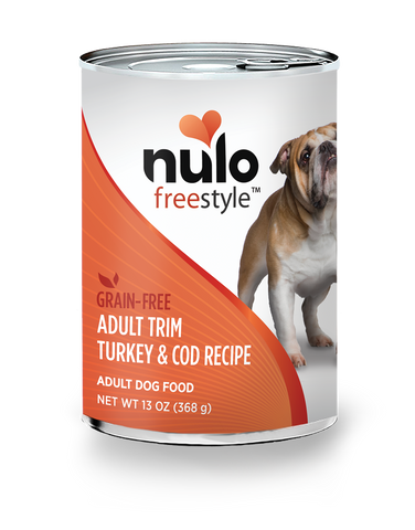 Grain-free 13oz. Adult Trim Turkey & Cod Recipe for dogs / case of 12 cans - PetProductDelivery.com