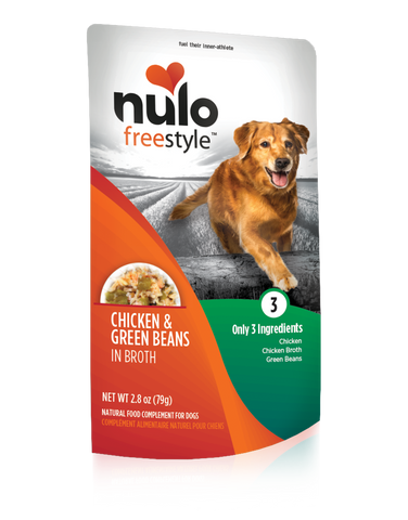 Grain-free 2.8oz. Puppy & Adult Chicken & Green Bean Recipe pouches for dogs / case of 24 - PetProductDelivery.com