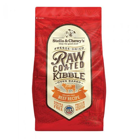 Raw-Coated Grass-Fed Beef Recipe dry kibble for dogs