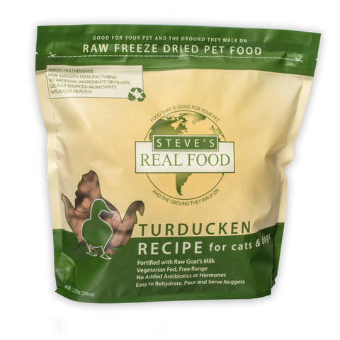 Freeze Dried Turducken Diet for cats and dogs