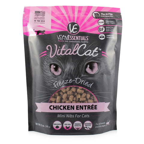 Chicken Mini Nibs Freeze-Dried Grain Free Cat Food - PetProductDelivery.com