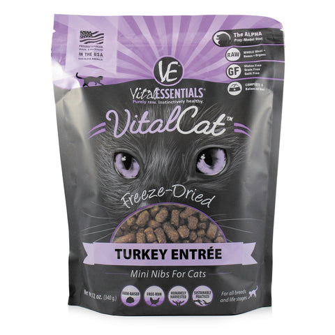 Turkey Mini Nibs Freeze-Dried Grain Free Cat Food - PetProductDelivery.com