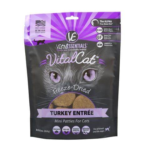 Turkey Mini Patties Freeze-Dried Grain Free Cat Food - PetProductDelivery.com