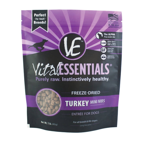 Freeze-Dried Turkey Mini Nibs Entree for dogs