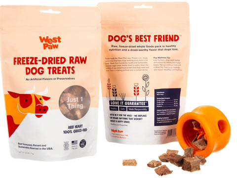 Freeze-Dried Raw Dog Treats - Grass Fed Beef Heart - PetProductDelivery.com