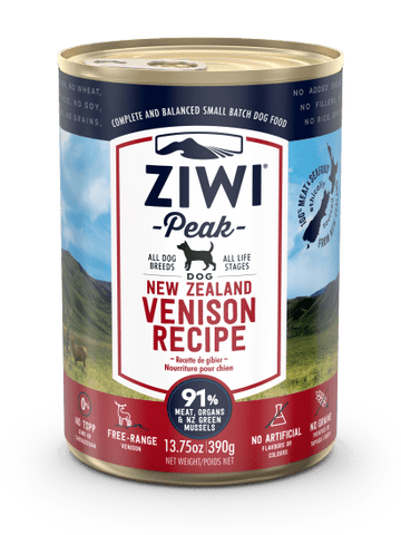 Wet Venison Recipe for Dogs 13.75oz. cans / case of 12