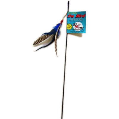 Da Bird Rod and Feather Toy - PetProductDelivery.com