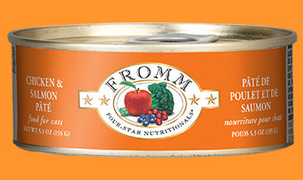 4 Star Chicken & Salmon Pate 5.5oz. canned cat food / case of 12 - PetProductDelivery.com