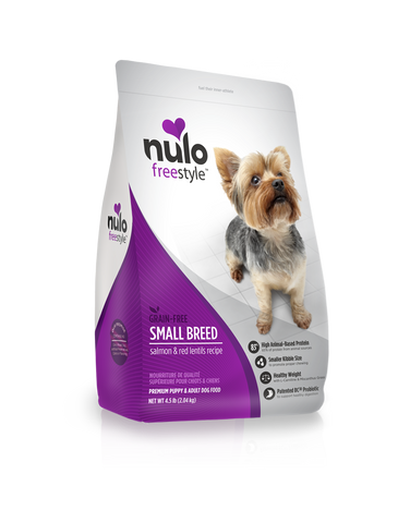 Grain-free Small Breed Salmon and Red Lentil Recipe dry kibble for dogs - PetProductDelivery.com