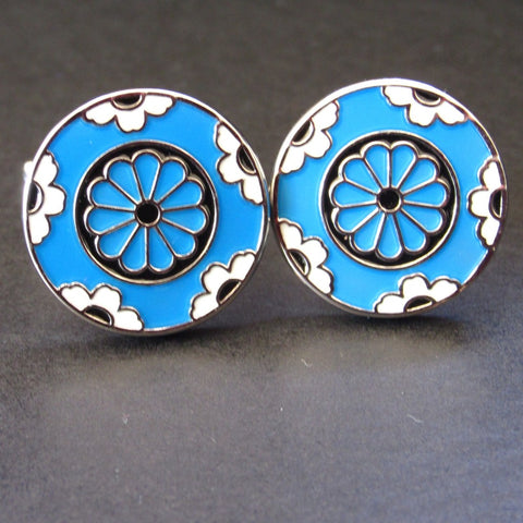 Baby Blue Carousel Cuff Link