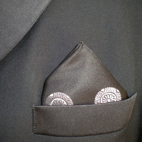 Black Mon pocket square