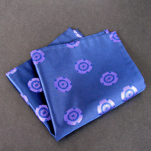 Navy Mon pocket square