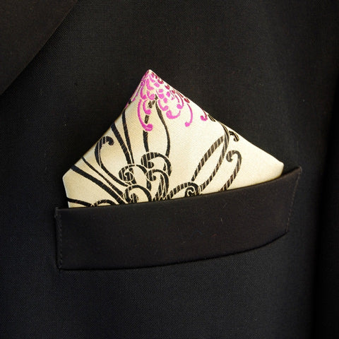 Gold Spider Pocket Square