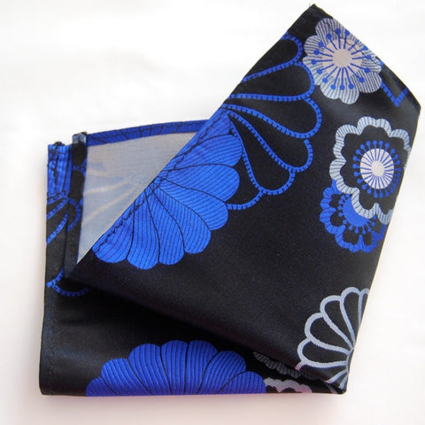 Black Shibori Pocket Square