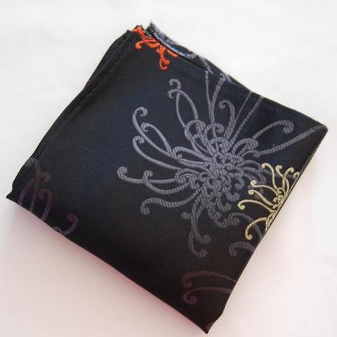 Black Spider Pocket Square