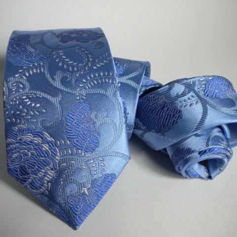 Flower- blues Silk Tie