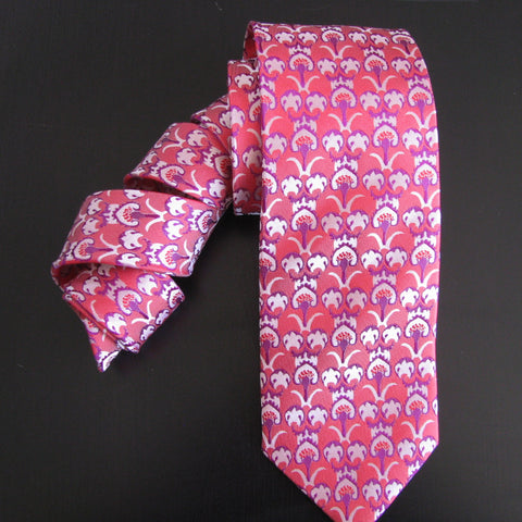 Purple & pink Ottoman Design silk tie