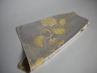 Old gold & pink flower pocket square