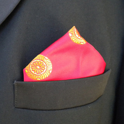 Red Mon pocket square