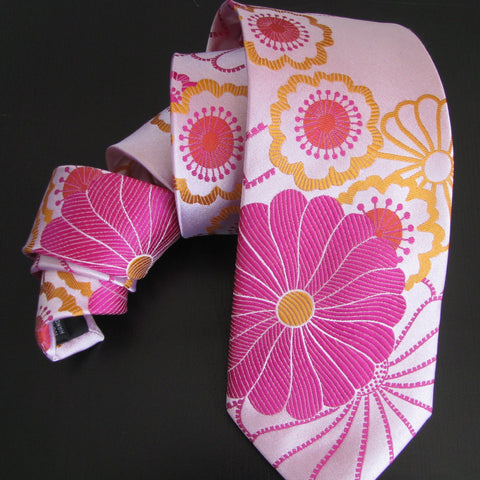 Shibori-pink on pale pink  Silk Tie