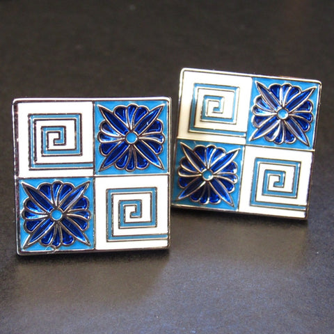 Blue Diamond Cuff Link