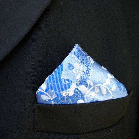 Blue Uma pocket square