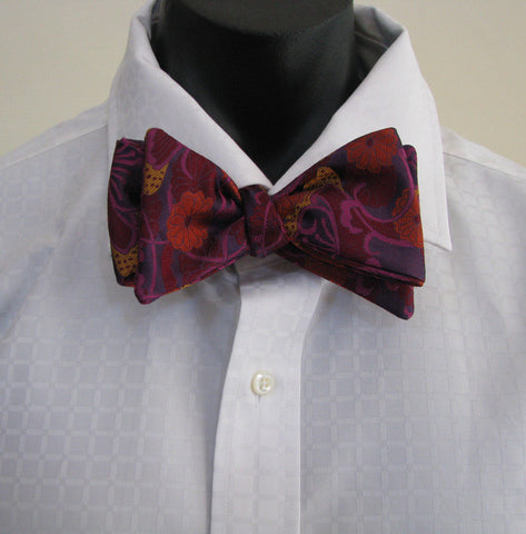 Purple vase bow tie