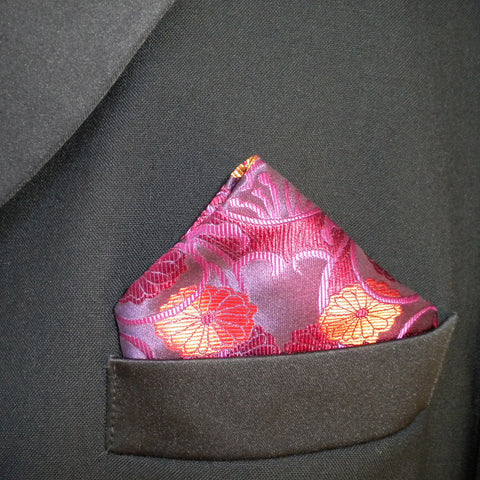 Purple Vase Pocket Square