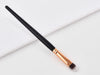 Concealer brush with flat, soft bristles