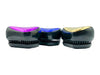 Detangler Brush in hot pink, electric blue and gold