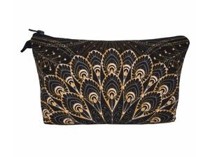 Jom Tokoy Gold Feather Makeup Bag