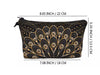 Jom Tokoy Gold Feather Makeup Bag 22cm x 13.5cm