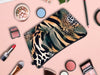 Jom Tokoy Khaki Animal Print Waterproof Makeup Bag
