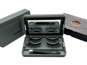 Lash Stash Case including Precision Tweezers