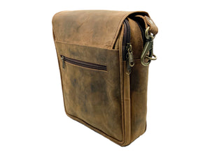 Man Be Buffalo Leather Messenger Bag