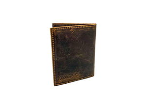 Man Be Buffalo Leather Passport Wallet