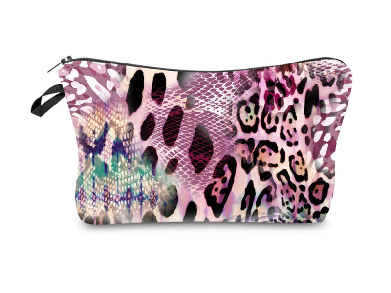 Jom Tokoy Pink Animal Print Waterproof Makeup Bag