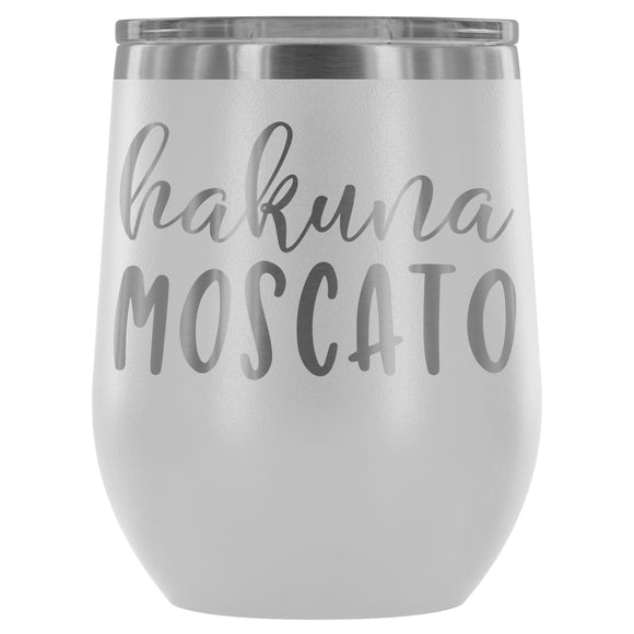 Hakuna Moscato 12oz Stemless Wine Tumbler {Multiple Colors} - LaV's Boutique
