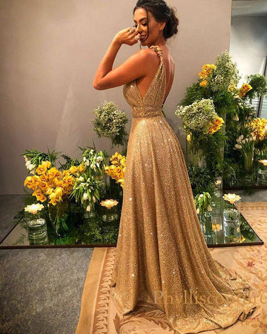 phylliscouture gold sequin prom dress 2020