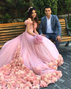 Off Shoulder Tulle Ball Gowns Cinderella Wedding Dresses 2018 In