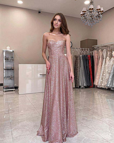 Image of phylliscouture pink glitter prom dress