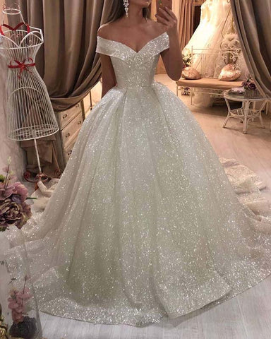 Image of phylliscouture off shoulder wedding dress