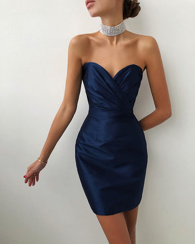 phylliscouture navy blue party dress