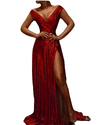 Image of phylliscouture burgundy evening dress 2021